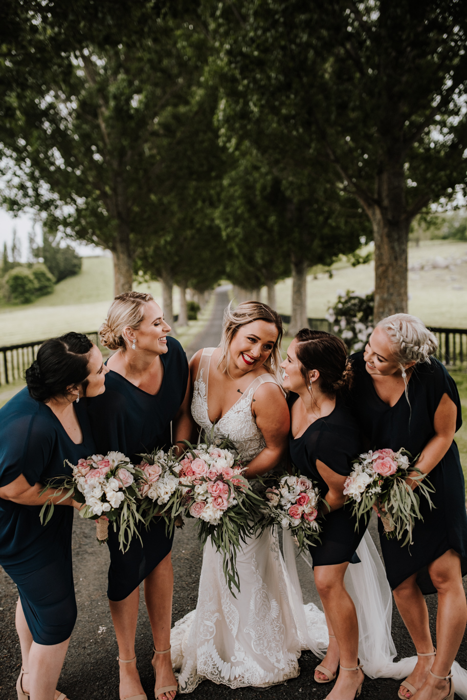Angela+Vaughan Benedetti Wedding Dress Bride And Bridesmaids 2