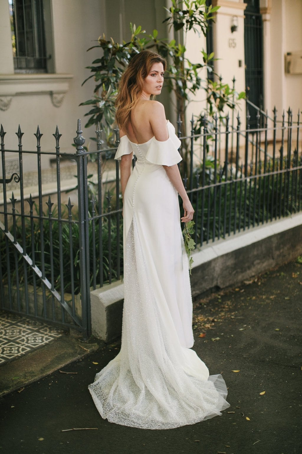 02 Hera Couture Barnet Wedding Dress Standing Side Of Road