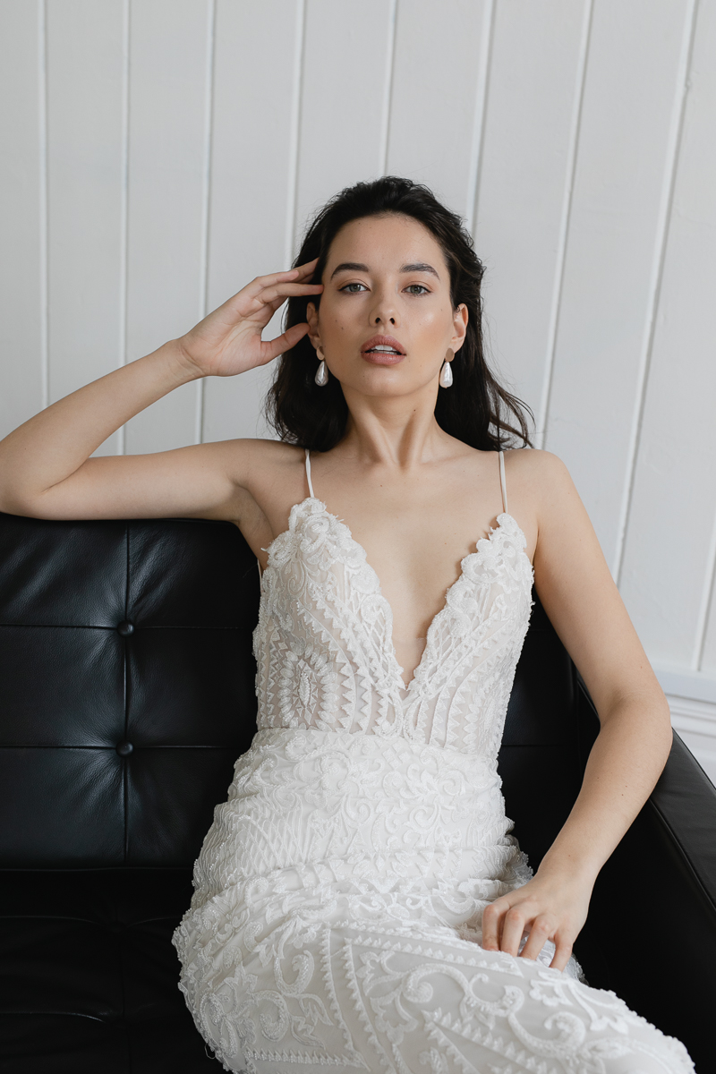 20190902 Hera Couture Corp Studio Day 2 3846Audrey Wedding Dress Fitted Beaded