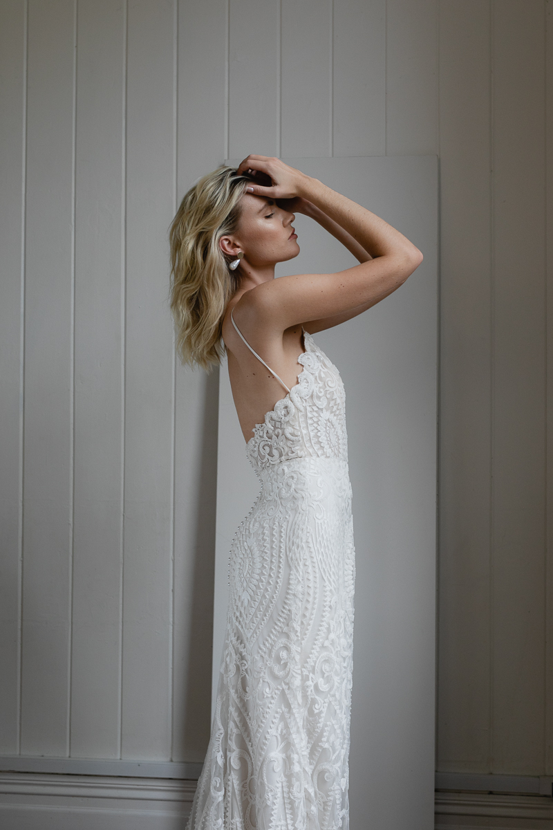 20190902 Hera Couture Corp Studio Day 2 6520Audrey Wedding Dress Fitted Beaded