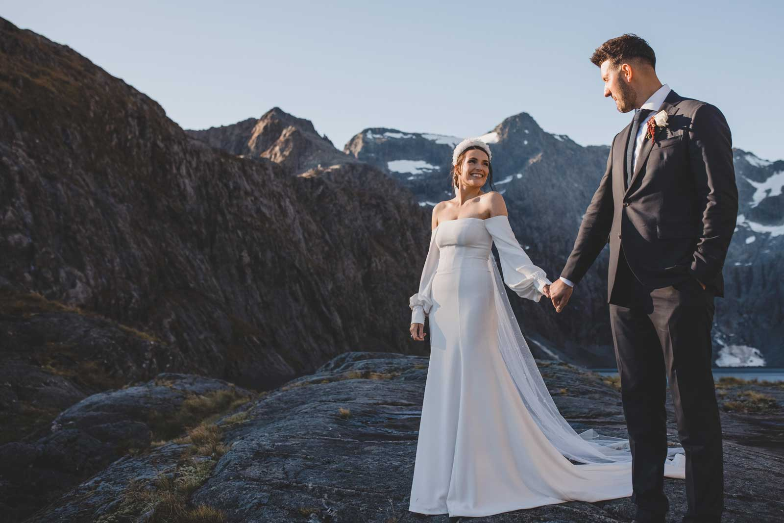 01 Bride And Groom Mountainscape