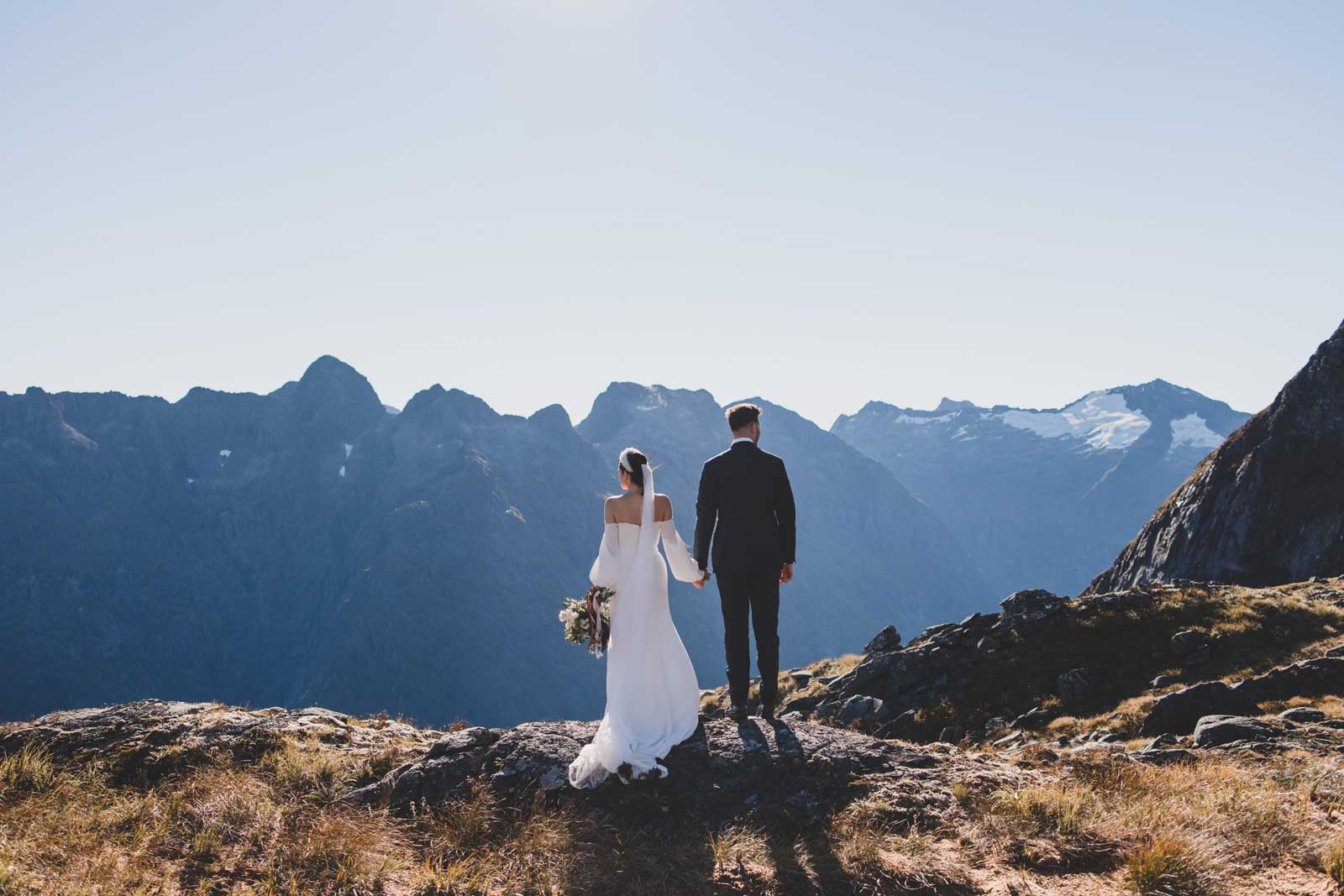 04 Bride And Groom Mountainscape