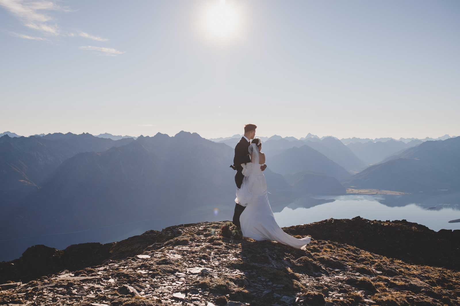 06 Bride And Groom Mountainscape
