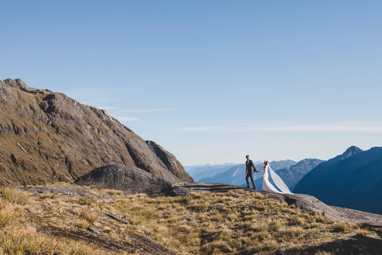 07 Bride And Groom Mountainscape