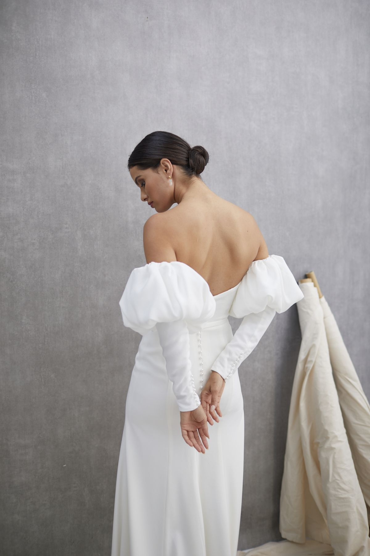 Ada Sleeves French Crepe Wedding Gown 19_1547