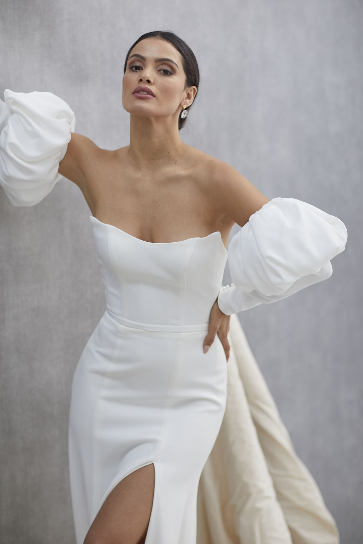 Ada Sleeves French Crepe Wedding Gown 19_1563