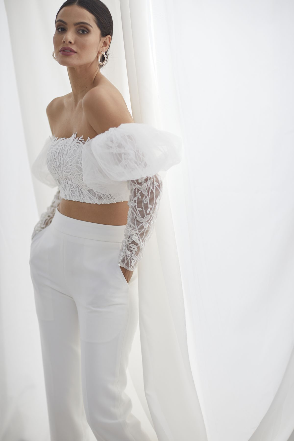 Ada Beaded W Louvre Cigarette Pants Wedding Gown 51_3593