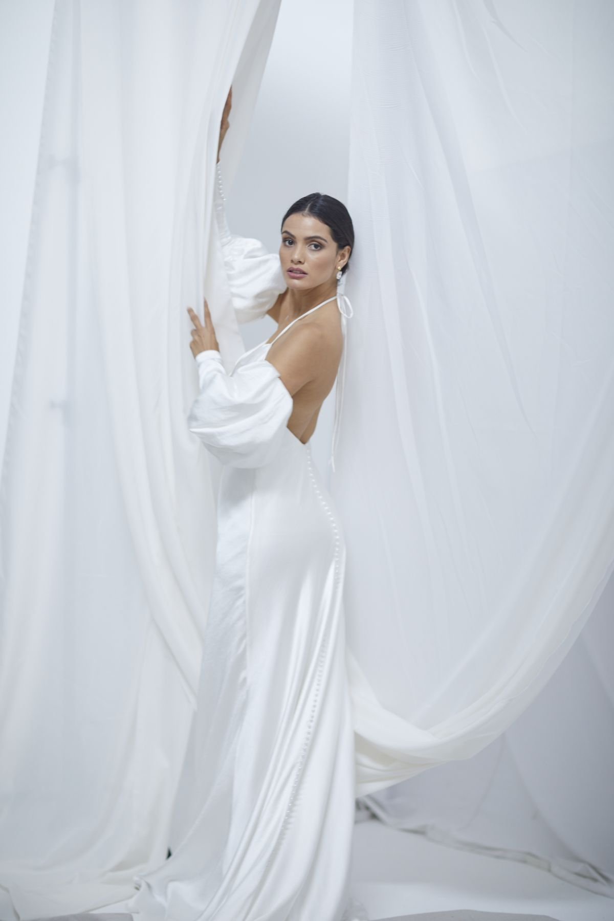 Alba Sleeves Crush Satin Wedding Gown 21_1677