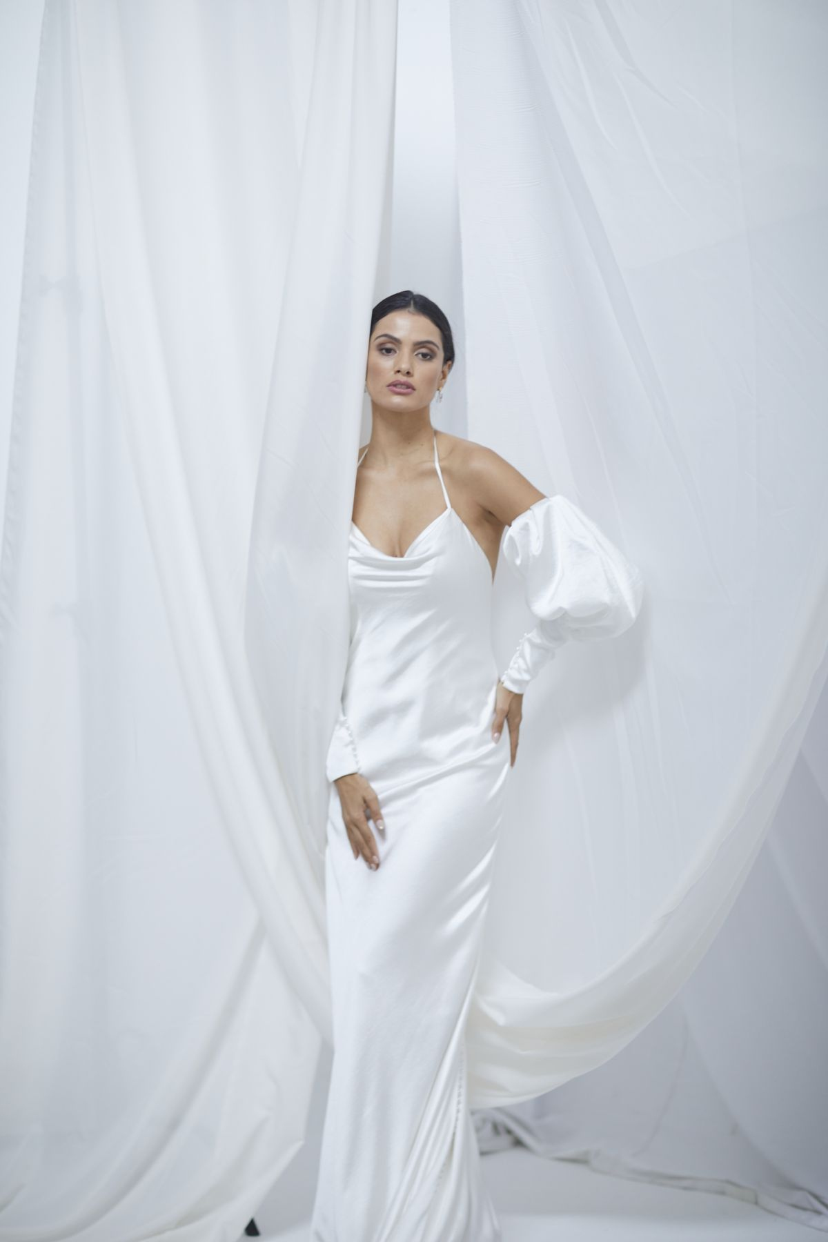 Alba Sleeves Crush Satin Wedding Gown 21_1696