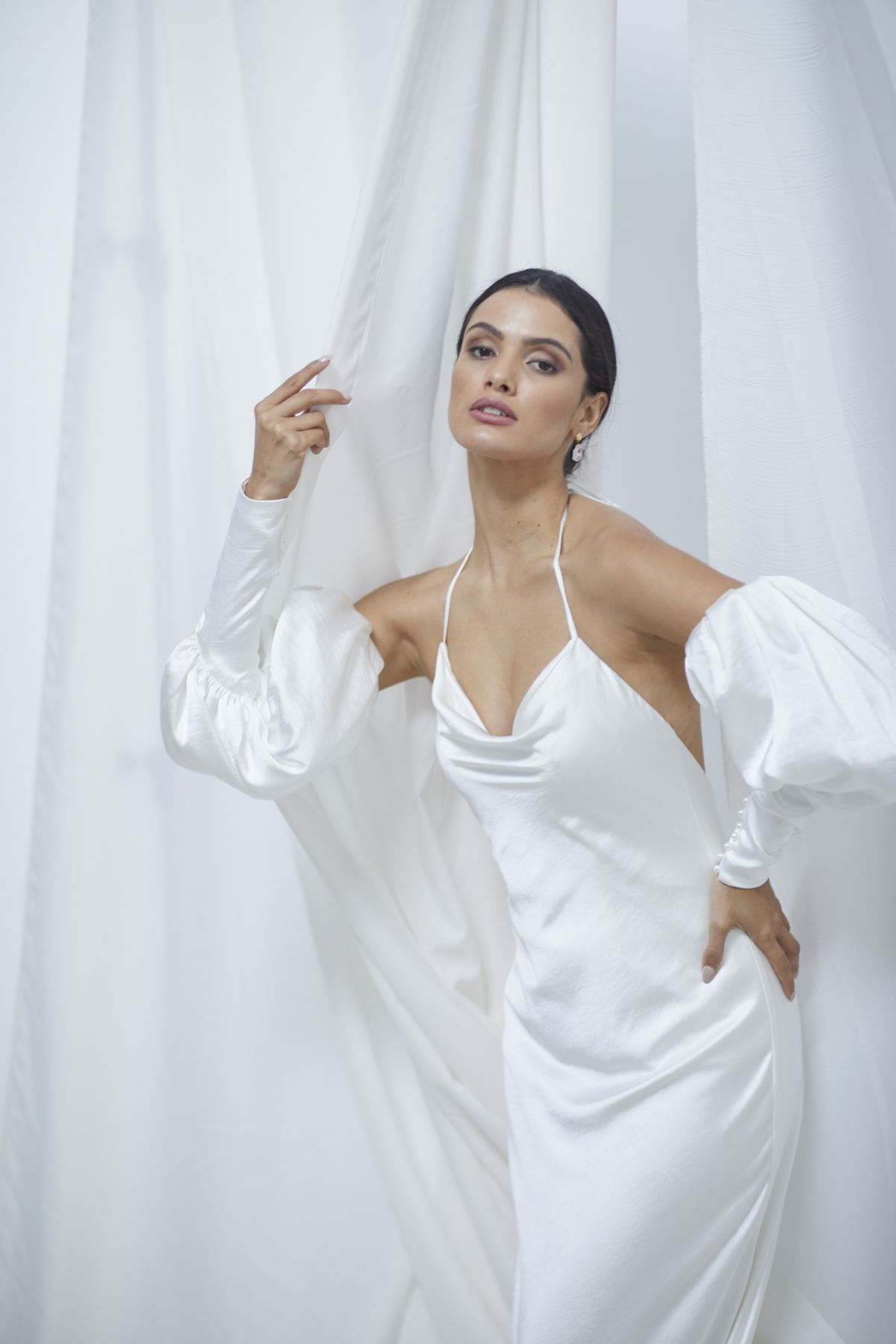 Alba Sleeves Crush Satin Wedding Gown 21_1698
