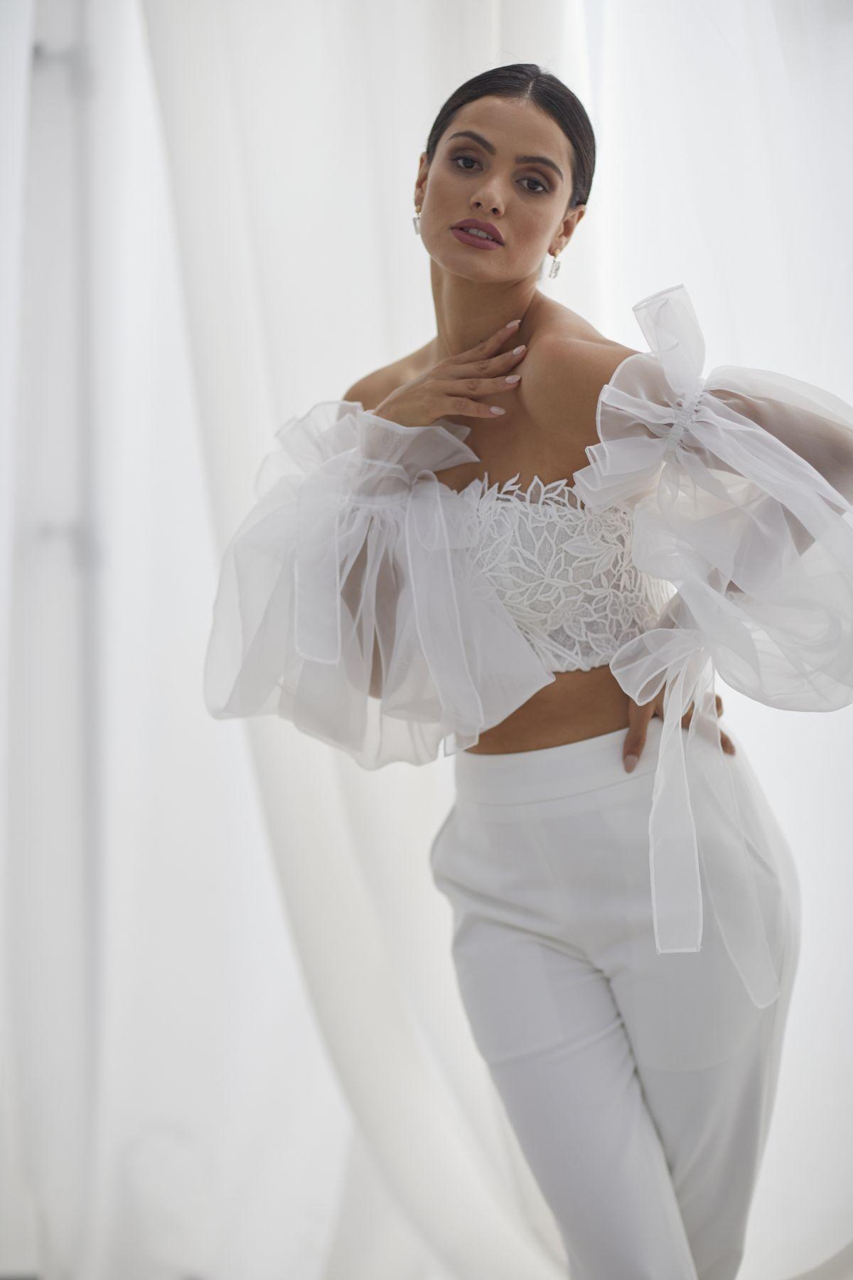 Autunno Sleeves Organza Wedding Gown 52_3660