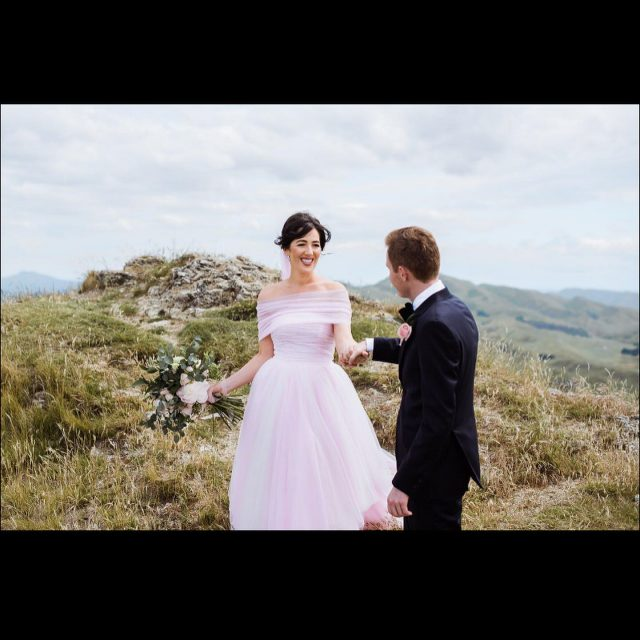 Congratulations to our stunning Hera Bespoke bride Lucy and husband Jamie 🥂❤️🎉 Lucy wore a beautiful bespoke soft fine tulle light pink gown, created in multilayered hand-cut asymmetrical design, bespoke detachable soft wrap over handcrafted corset bodice and large bow x   All the very best to a beautiful couple living an exciting journey xx 😘