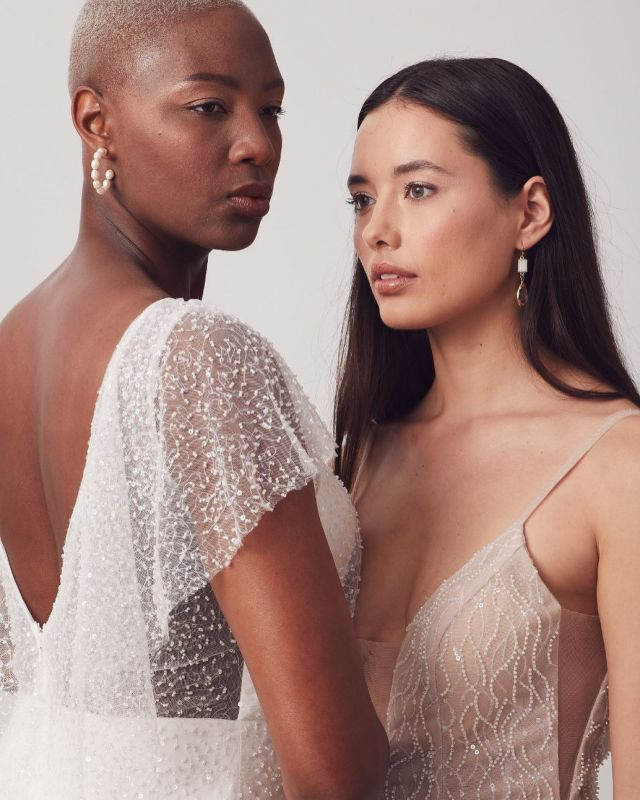 H e r a  l  C a c c i n i & H e r a  l  L a u r e n t  Worn by left @kiriiirose / right @zoestowers   Intricate, luxurious, modern + dash of darling ~  H e r a  B r i d e
