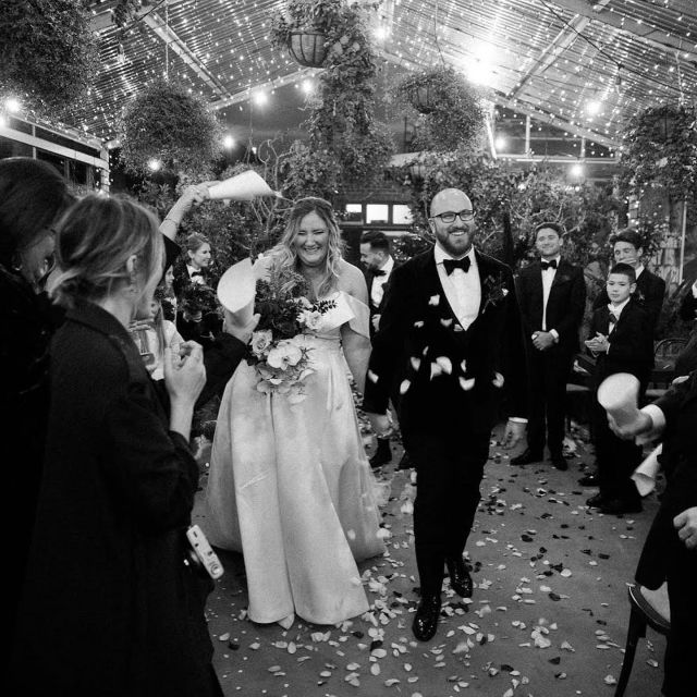 """Congratulations Jess + Phillip 🥂🥂 You gorgeous lovebirds 🕊🕊  In Jess's own words ~ """"It was the most perfect dress!  It was elegant, but so much fun.  And most importantly, it allowed me to carry a sneaky bottle of gin in its pocket all night.  So thank YOU, for having a gown that inspires nothing short of magic.""""   Jess wearing H e r a  l  F r a n co i s Via our Stockist partner @marrymebridal_  Mosman, AUS 🇦🇺 Veil created by @taniamarasbridal 🇦🇺"""